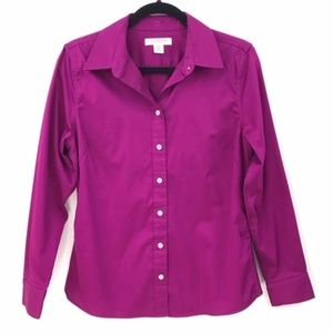 Banana Republic Fitted Purple Button Down Shirt